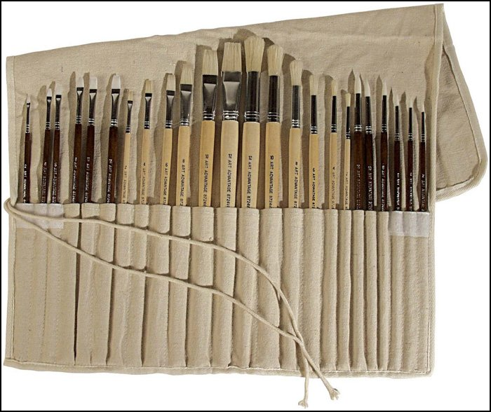 Art Advantage Oil and Acrylic Paint Brush Set
