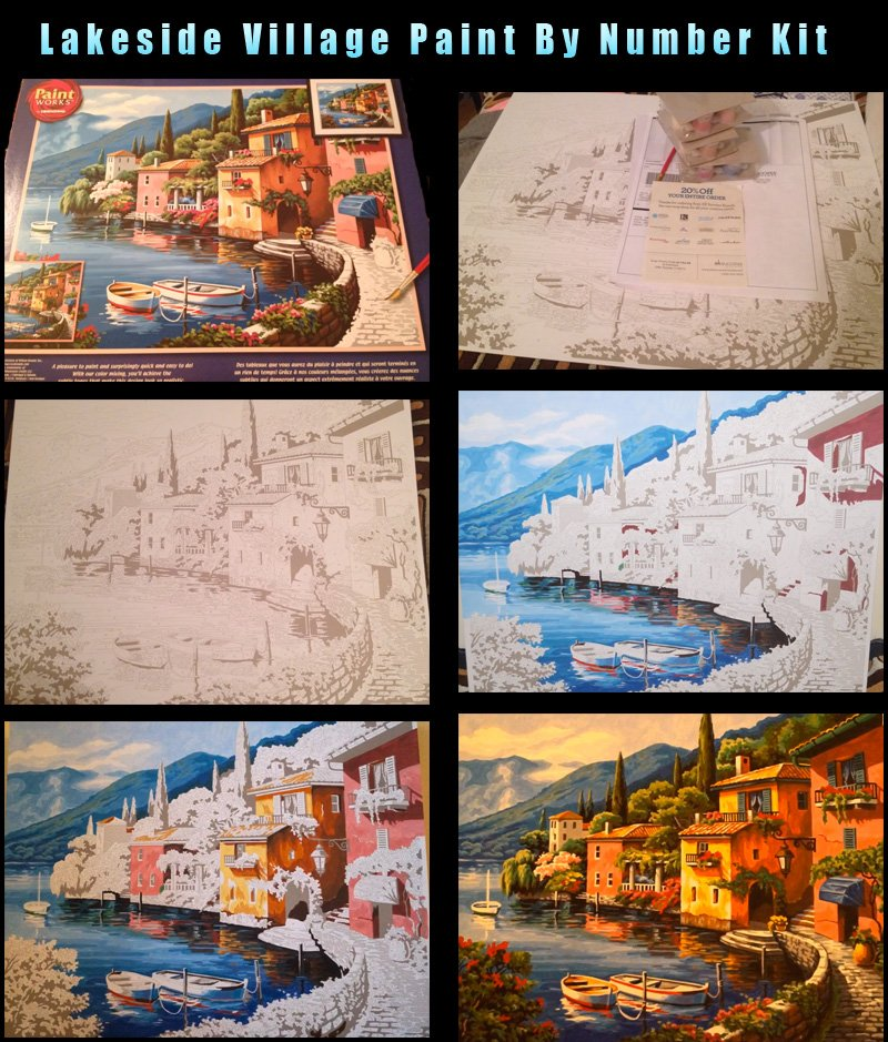 Lakeside Village Paint by number kit