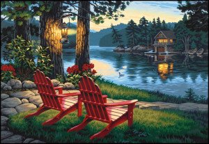 Paint By Numbers Adirondack Evening