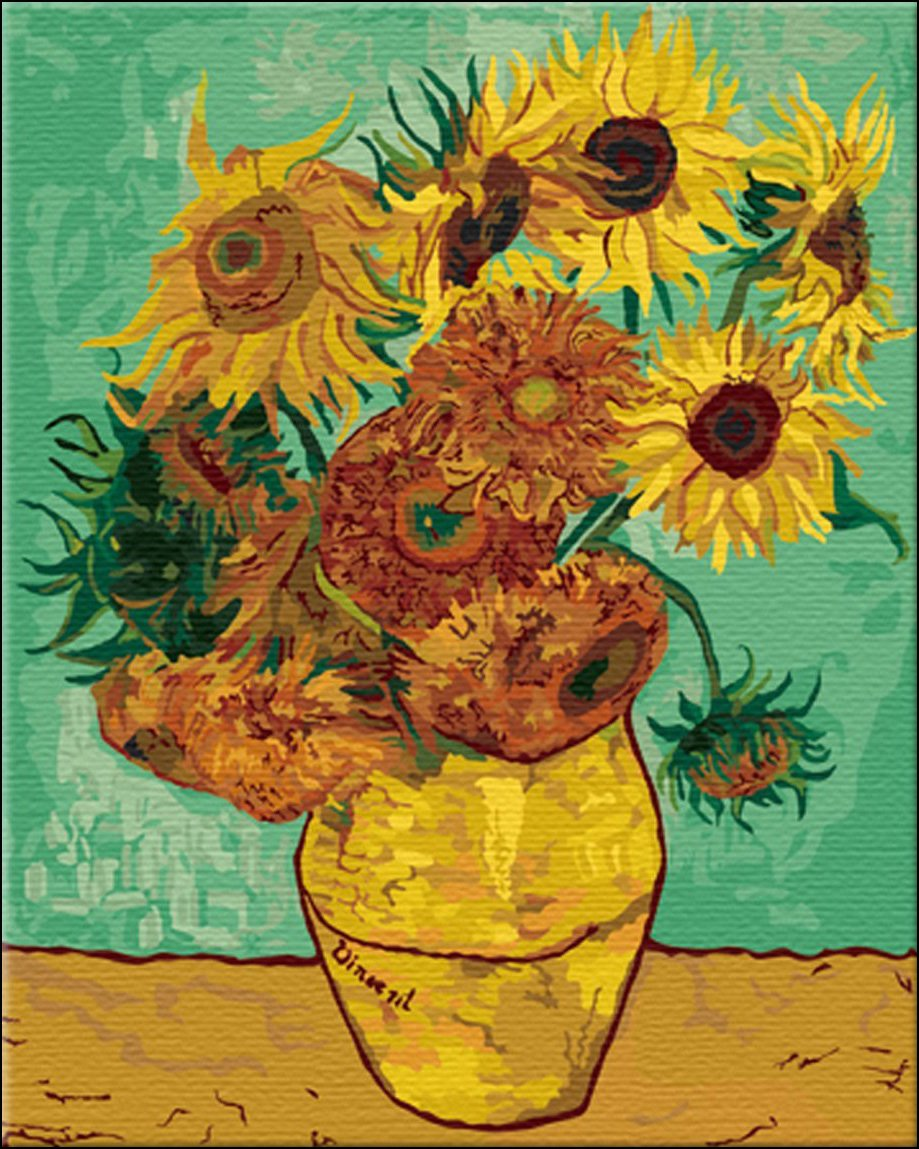 Sunflower Paint by Number Kit Van Gogh Paint by Number Kits