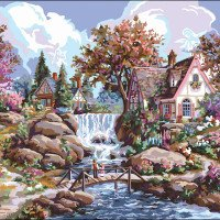 Angel Falls-Plaid Paint By Number Kits