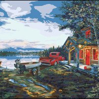 Cabin Fever-Plaid Paint By Number Kit