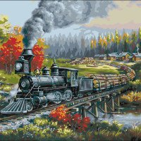 Logging Camp Run-Plaid Paint By Number Kits