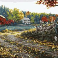 Morning run Plaid-Paint by number kit