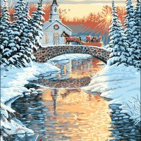 Over the river-Plaid Paint by number kits