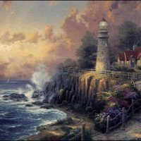 Thomas KinKade Paint By Number Kits Light of Peace
