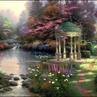 Thomas Kinkade Paint By NumberKits Garden Of Prayer