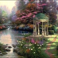 Thomas Kinkade Paint By NumberKits Garden Of Prayer