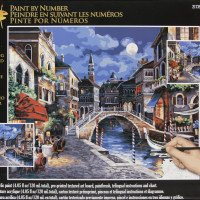 Venice at Night-Plaid Paint By Number Kit