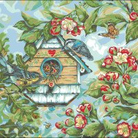 Warbler's Spring-Plaid Paint by Number Kit