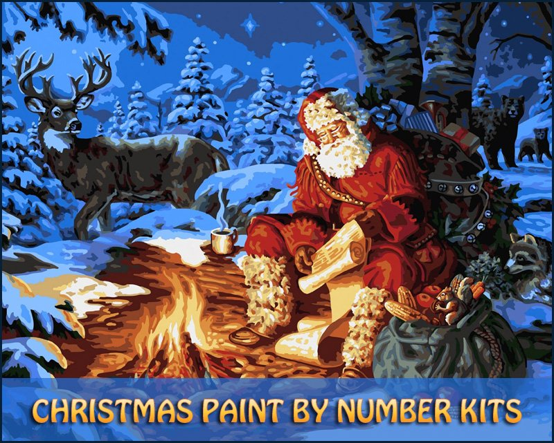 Christmas Paint Number Kits