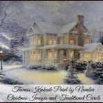 Thomas Kinkade Paint Number Christmas and Traditional Carols
