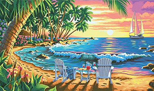 Beach Paint By Number Kits Beautiful Pbn Beach Scenes Kits