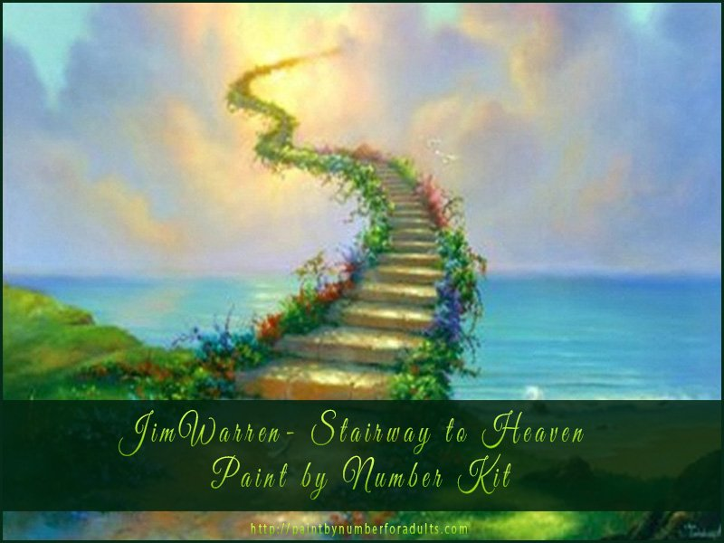 Jim Warren Stairway to Heaven Paint by Number Kit