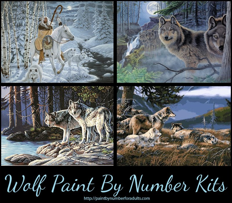 Wolf Paint By Numbers