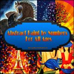 Abstract Paint by Numbers Kits for All Ages