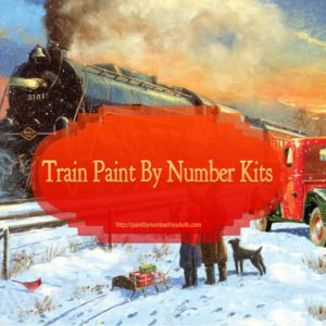 Train Paint by Number kits