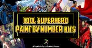 Superhero paint by number kits