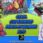 Superhero Pencil by Number Kits