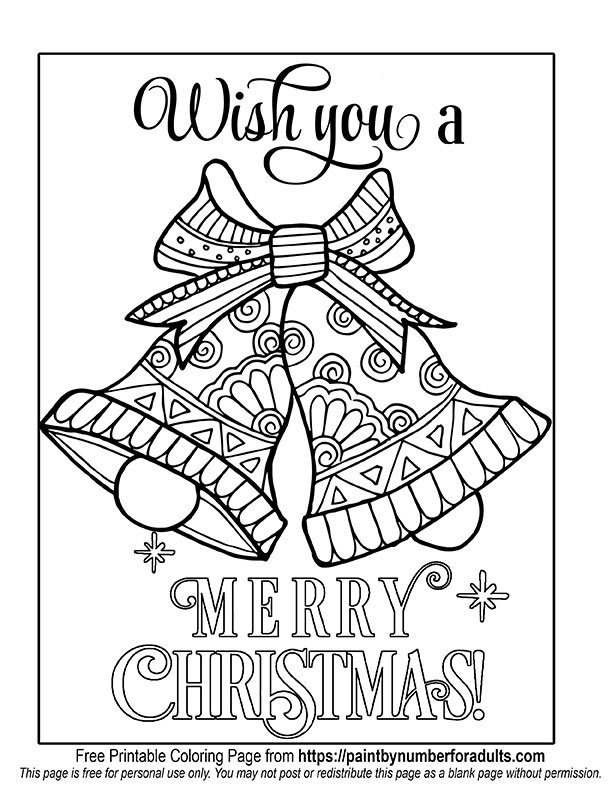 Christms Bells Coloring Page