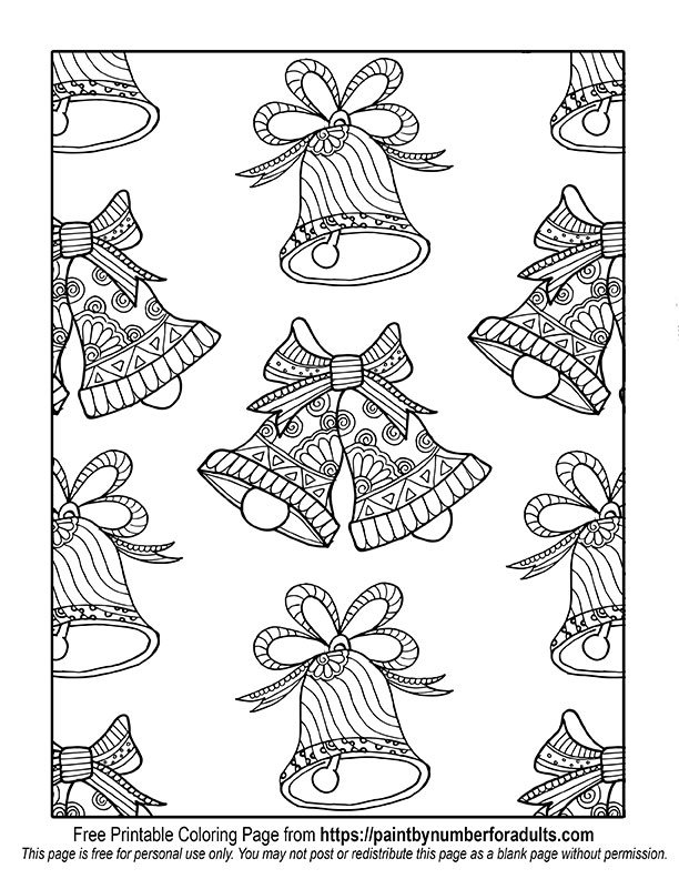 Christmas Bell Pattern Coloring page