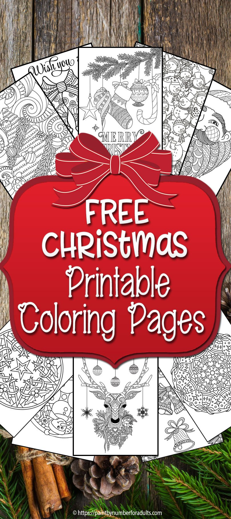 Free Printable Christmas Coloring Pages • Paint By Number ...