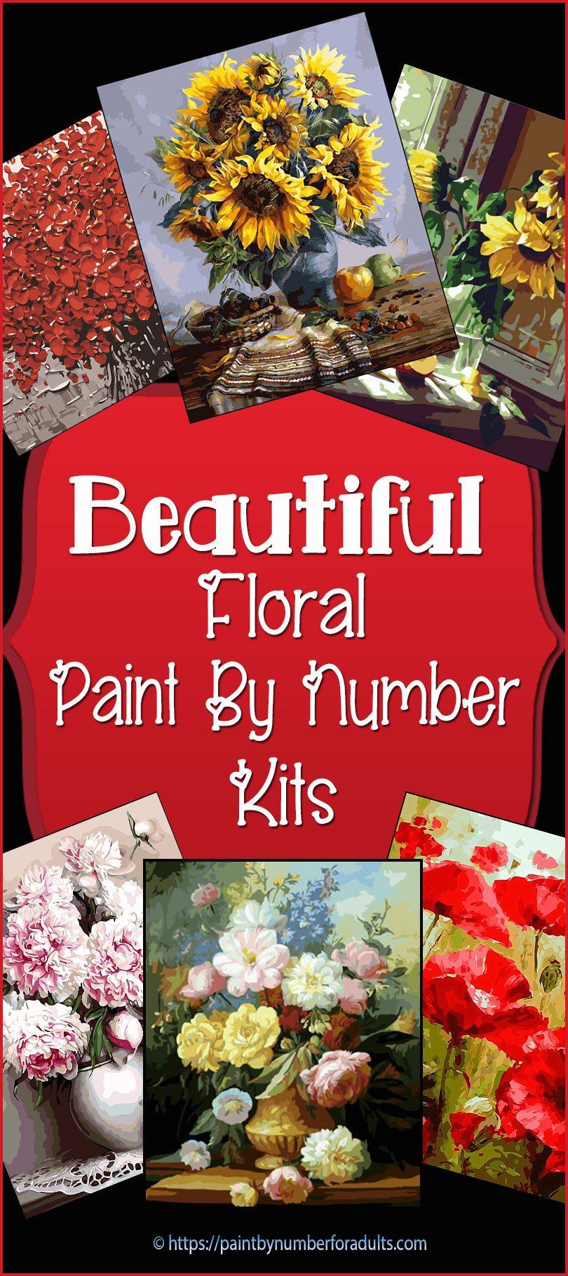 Floral Paint By Number Kits