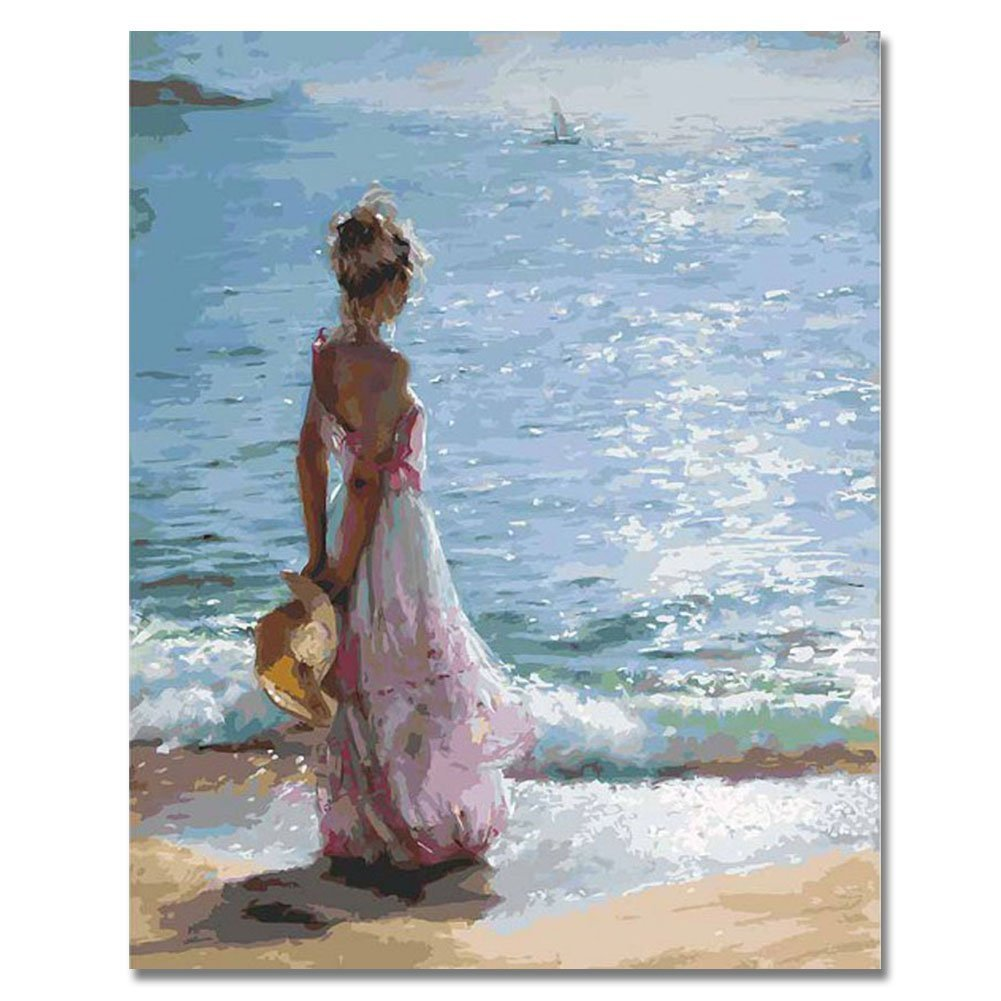 Seascape Paint By Number Kits For Adults   Paint By Number Seascapes