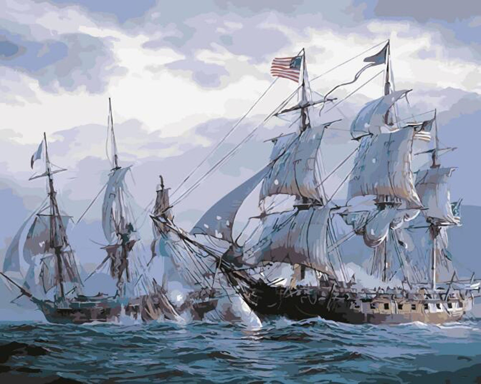 Ship Paint By Number Kits Pbn Kits Of Pirate Ships And