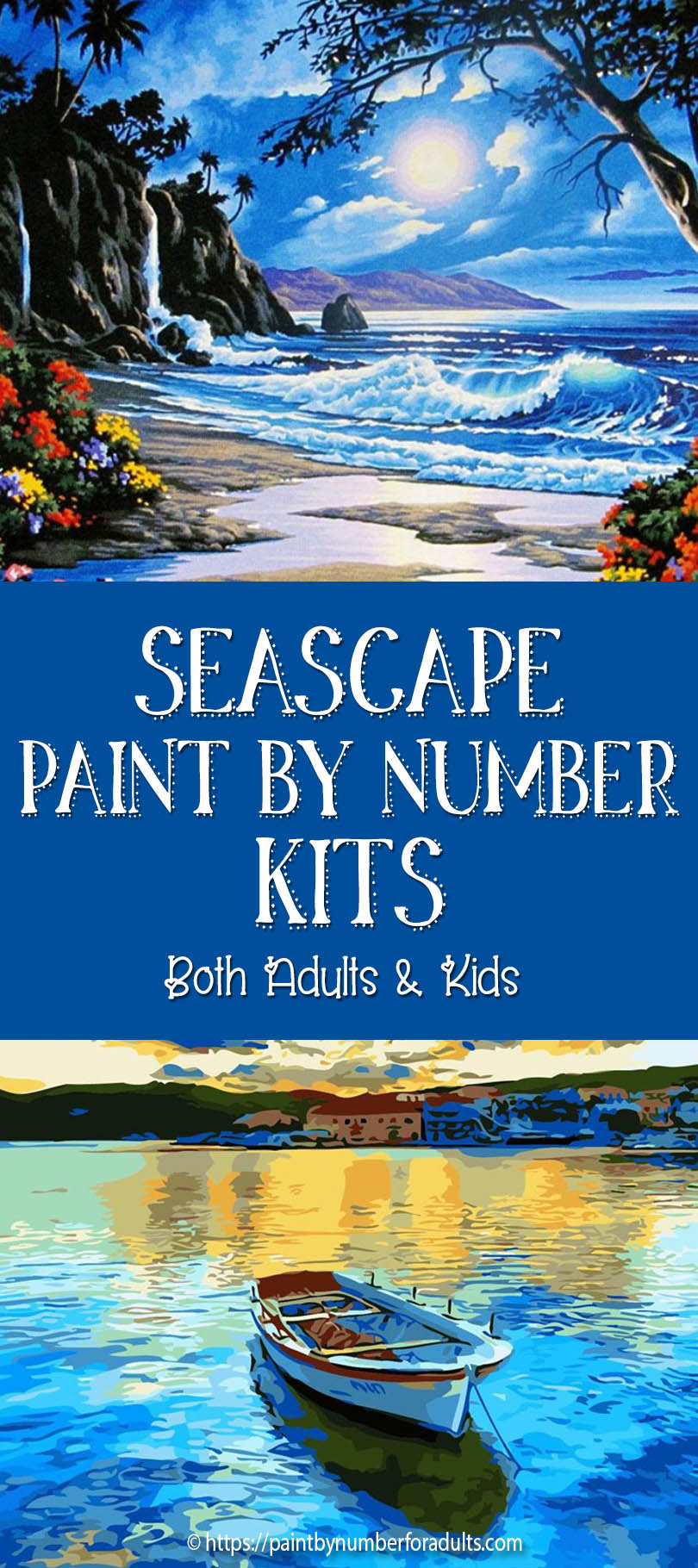 Seascape Paint By Number Kits For Adults