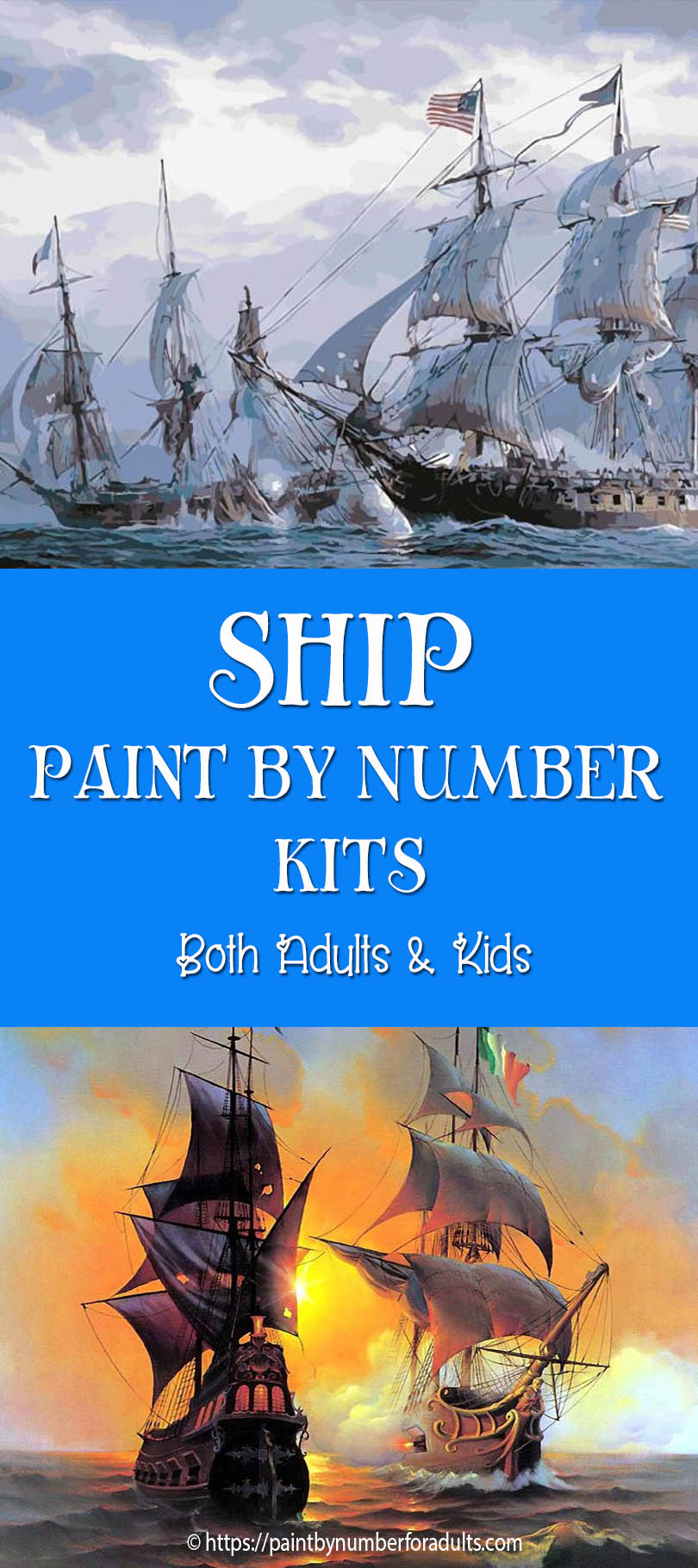 Ship Paint by Number kits