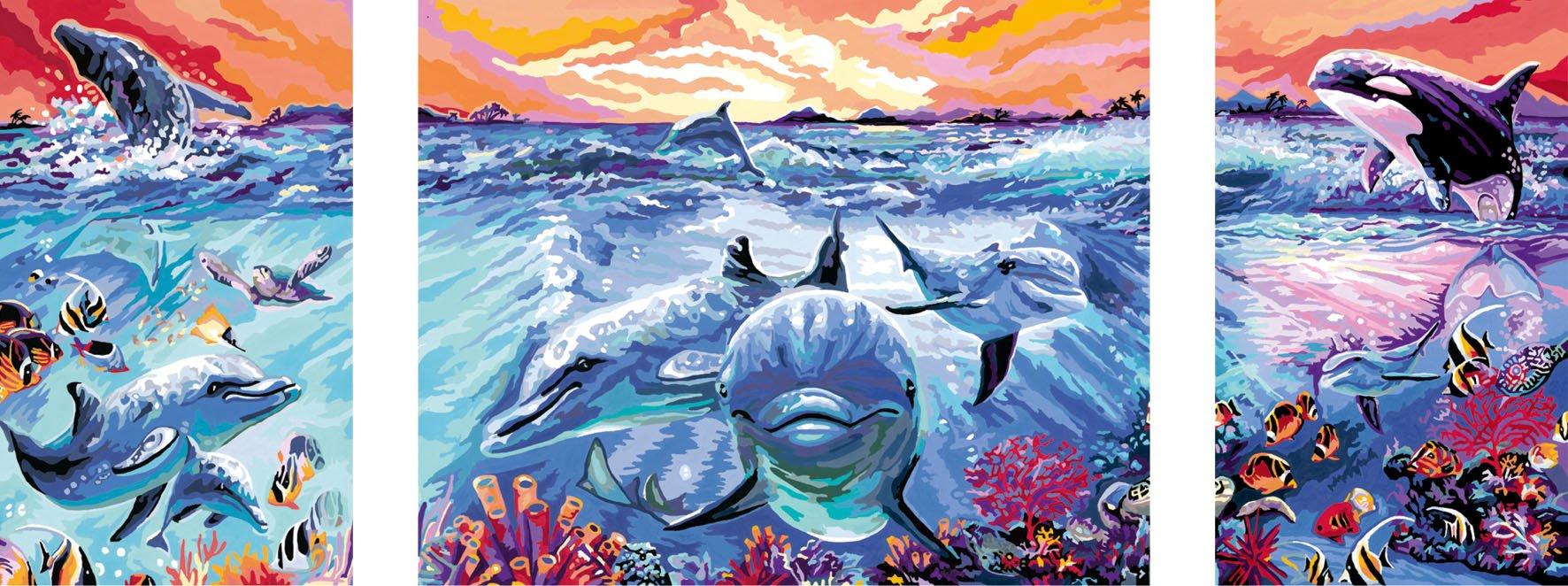 Underwater Paint By Number Kits • Paint By Number For Adults