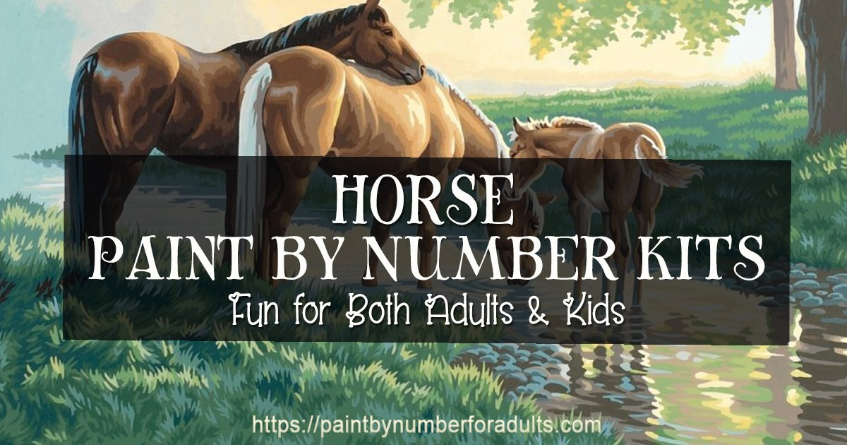 Horse Paint By Number Kits Paint By Number For Adults