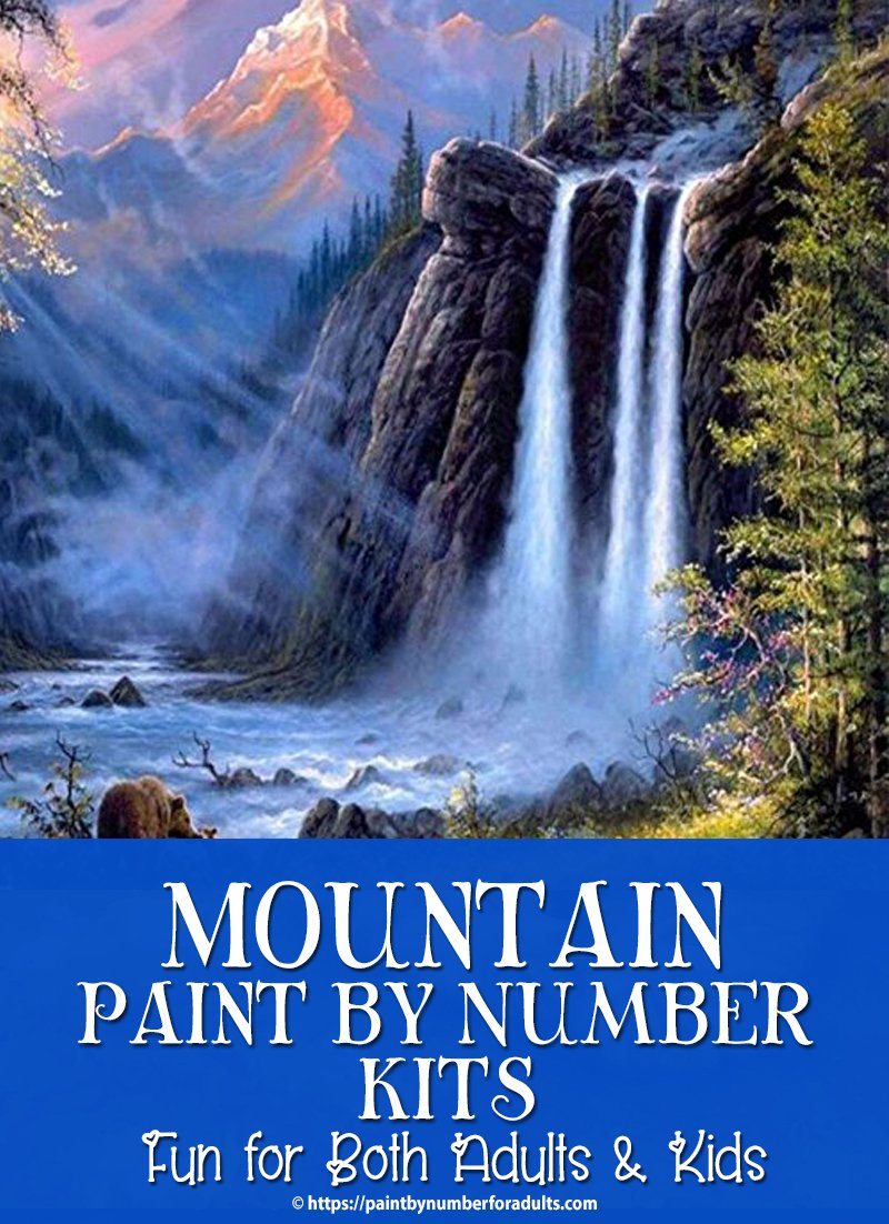 Paint By Number Kits of Mountains