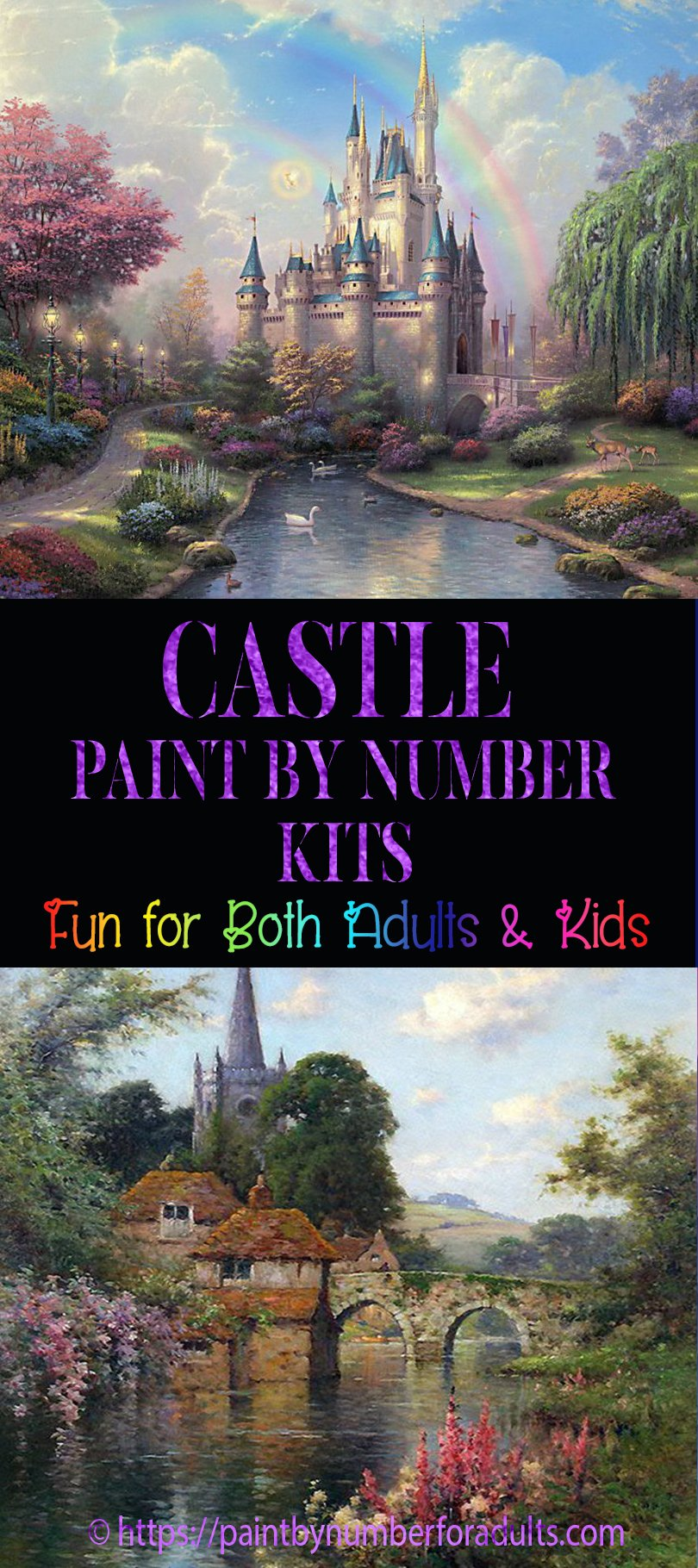 Castle Paint By Number Kits Paint By Number For Adults