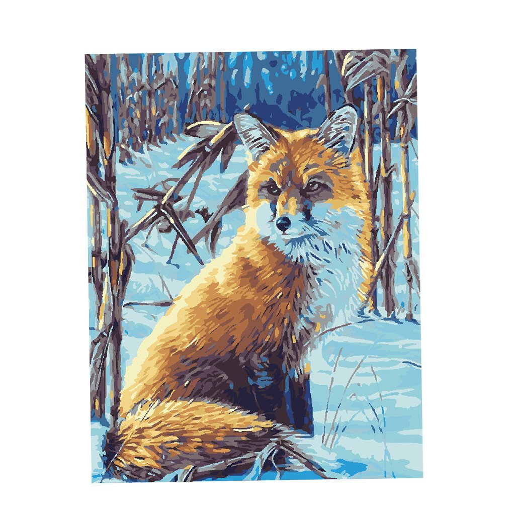 Fox Paint By Number Kits • Paint By Number For Adults