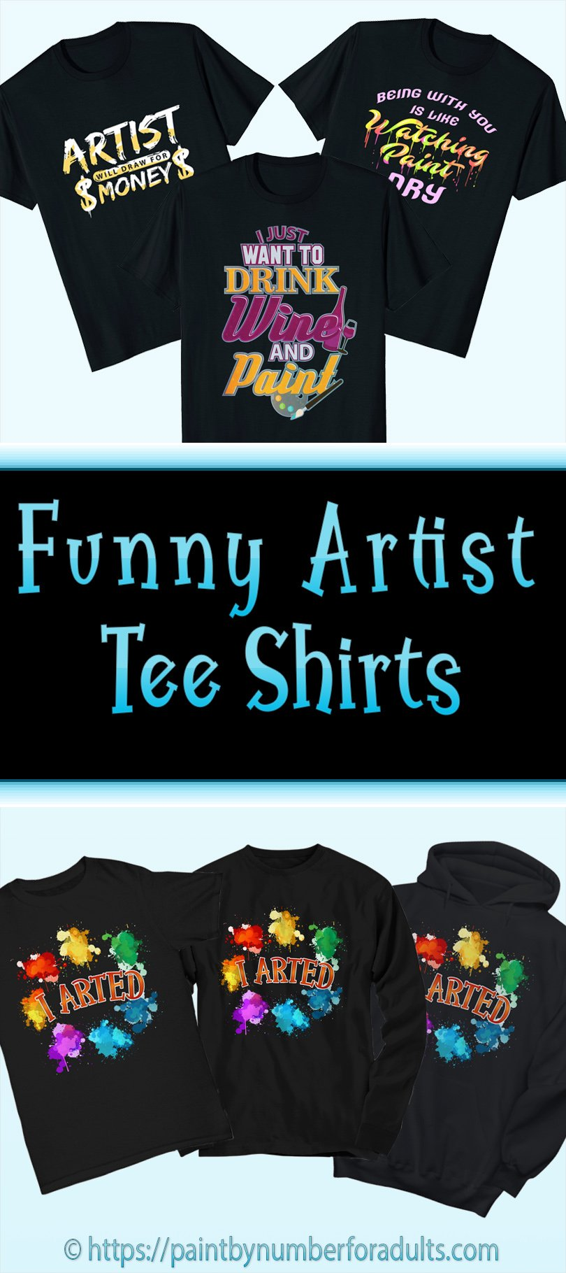 Funny Artist Tee Shirts