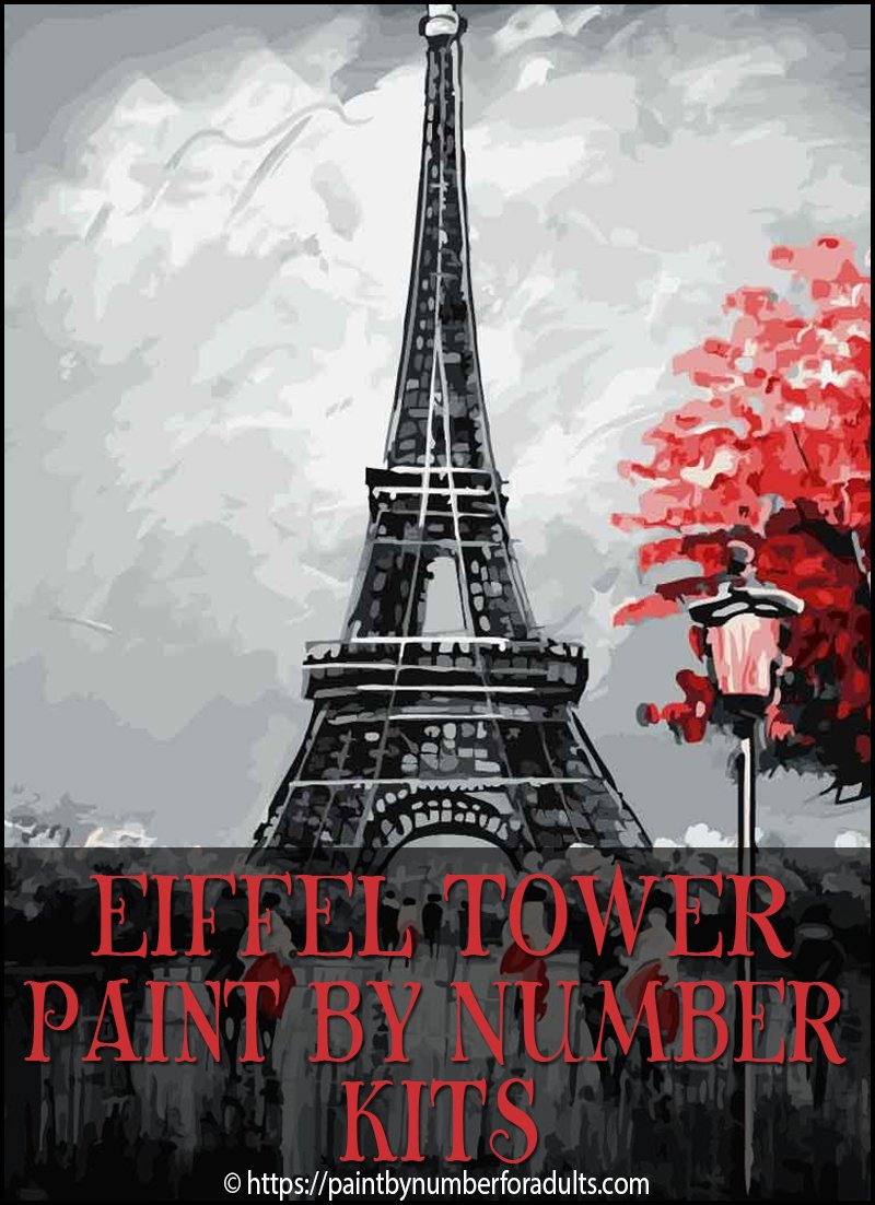 Paint By Number Eiffel Tower Kit