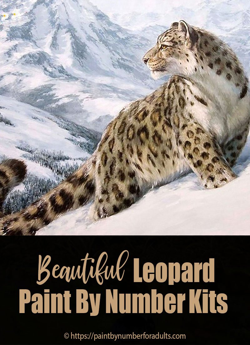 leopard paint by number kits