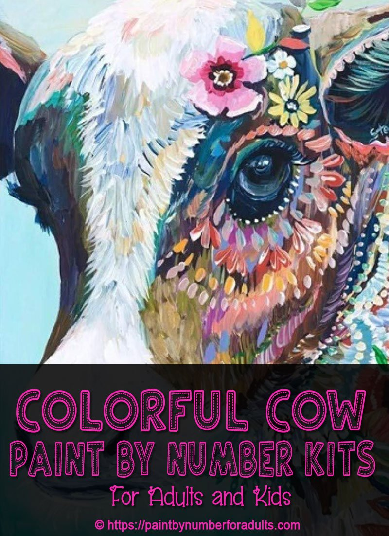 Colorful Cow Paint By Number Kits