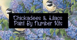 Dimensions Needlecrafts Paintworks Paint Number Chickadees Lilacs